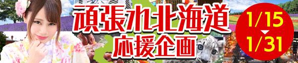 『頑張れ北海道応援企画』道外のお客様も超お得に遊べます!!